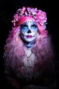 איפור לפורים - חג המתים המקסיקניי