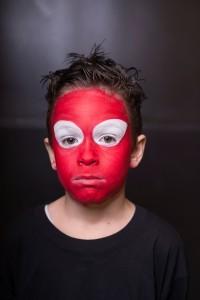 ציור פנים של ספיידרמן- שלב 2