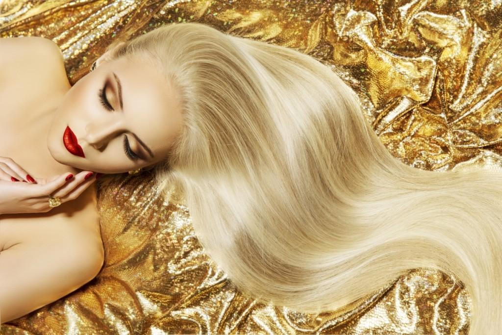 איפור עם צלליות בגוון זהב