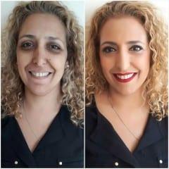 איפור לעור בוגר לפני ואחרי
