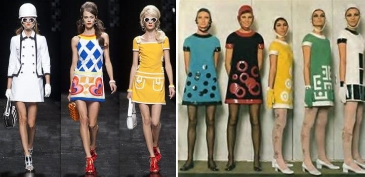 אופנה - מארי קוואנט ב- 1960 לצד מוסקינו 2012
