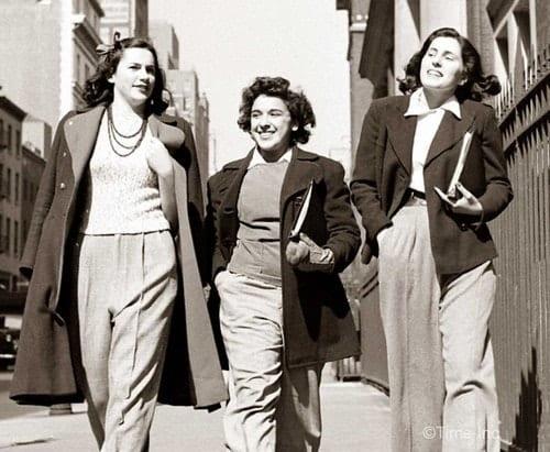 אופנת חורף עם חליפות מכנסיים בשנות ה-40