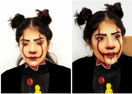 איפור פנים לפורים ליצן מפחיד - IT