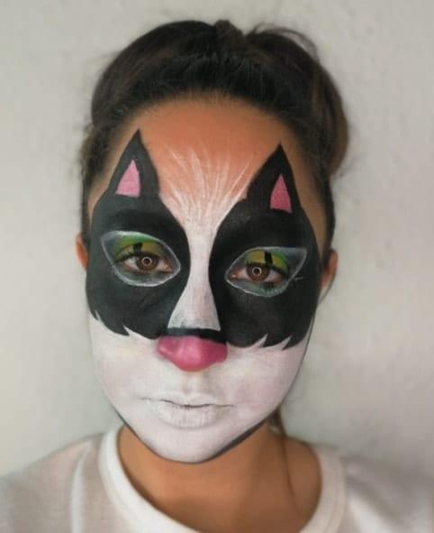 איפור חתולה - שלב שני+שלישי