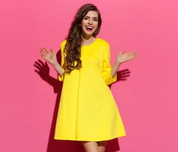 שמלה צהובה סטיילינג
