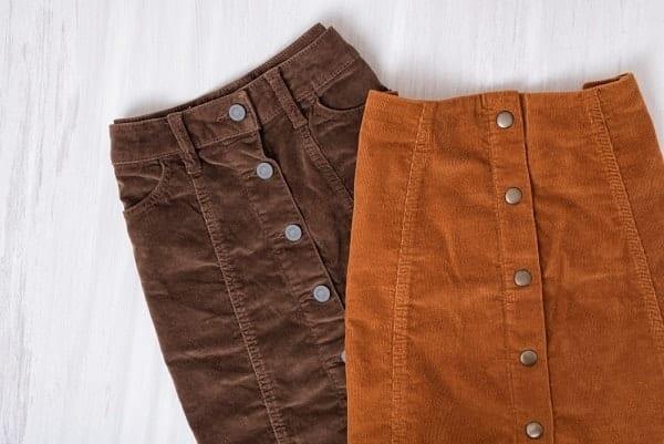 חצאיות קורדרוי לחורף