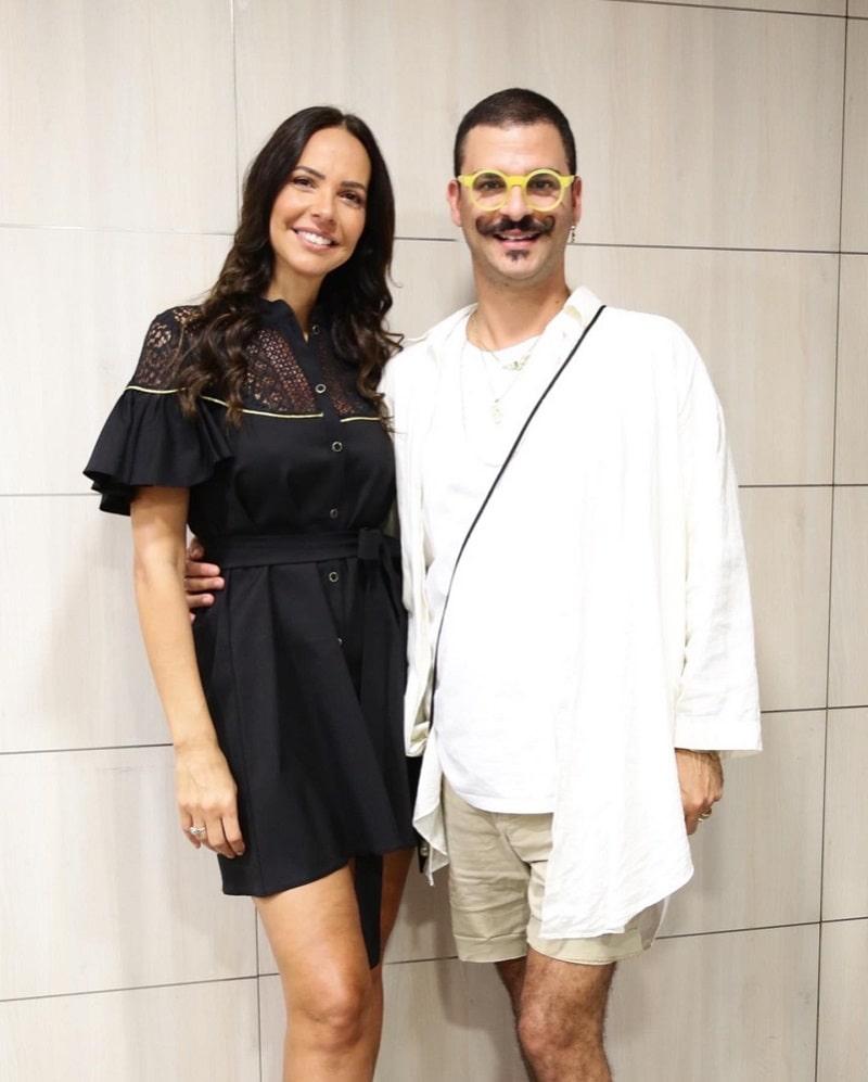 רוית אסף ודרור קונטנטו בתצוגת האופנה בבית חולים איכילוב